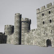 Modular Round Castle Towers Creation Set 3d model