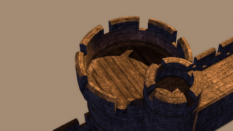 Modular Round Castle Towers Creation Set royalty-free 3d model - Preview no. 38