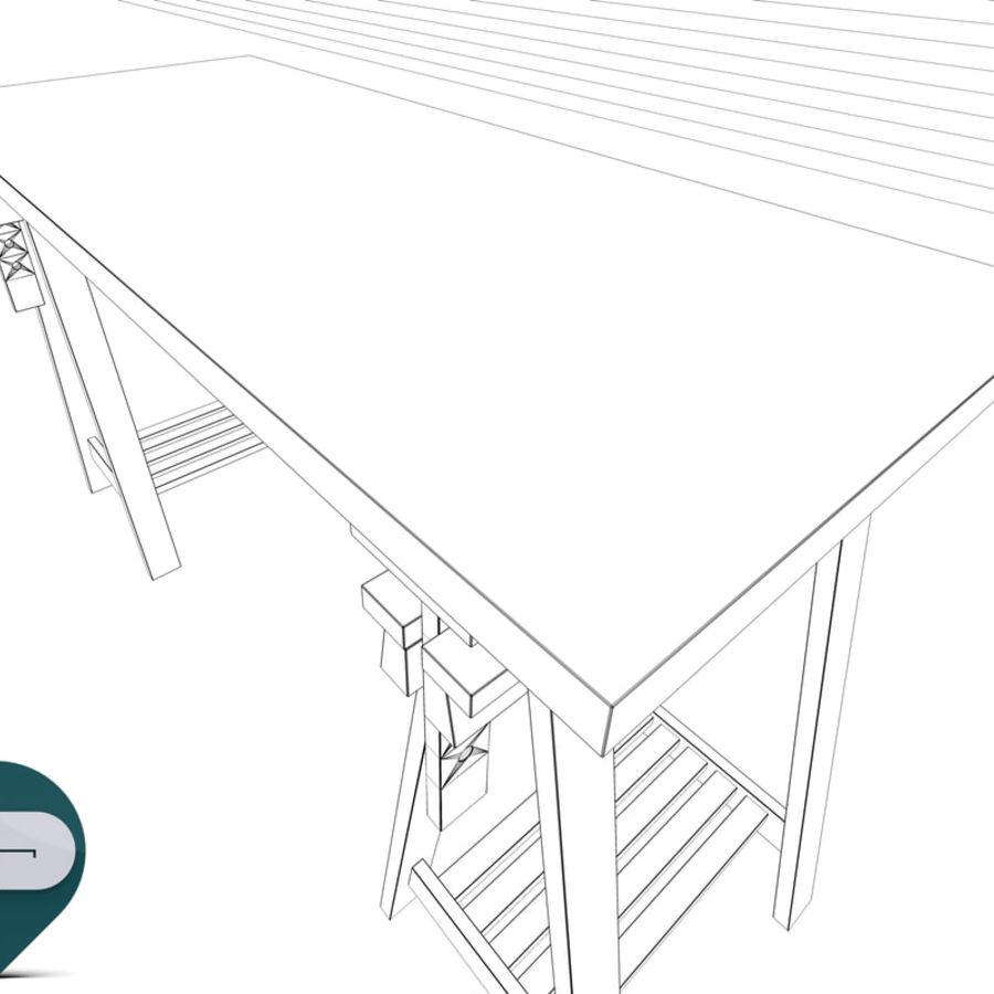 mesa de trabalho royalty-free 3d model - Preview no. 10