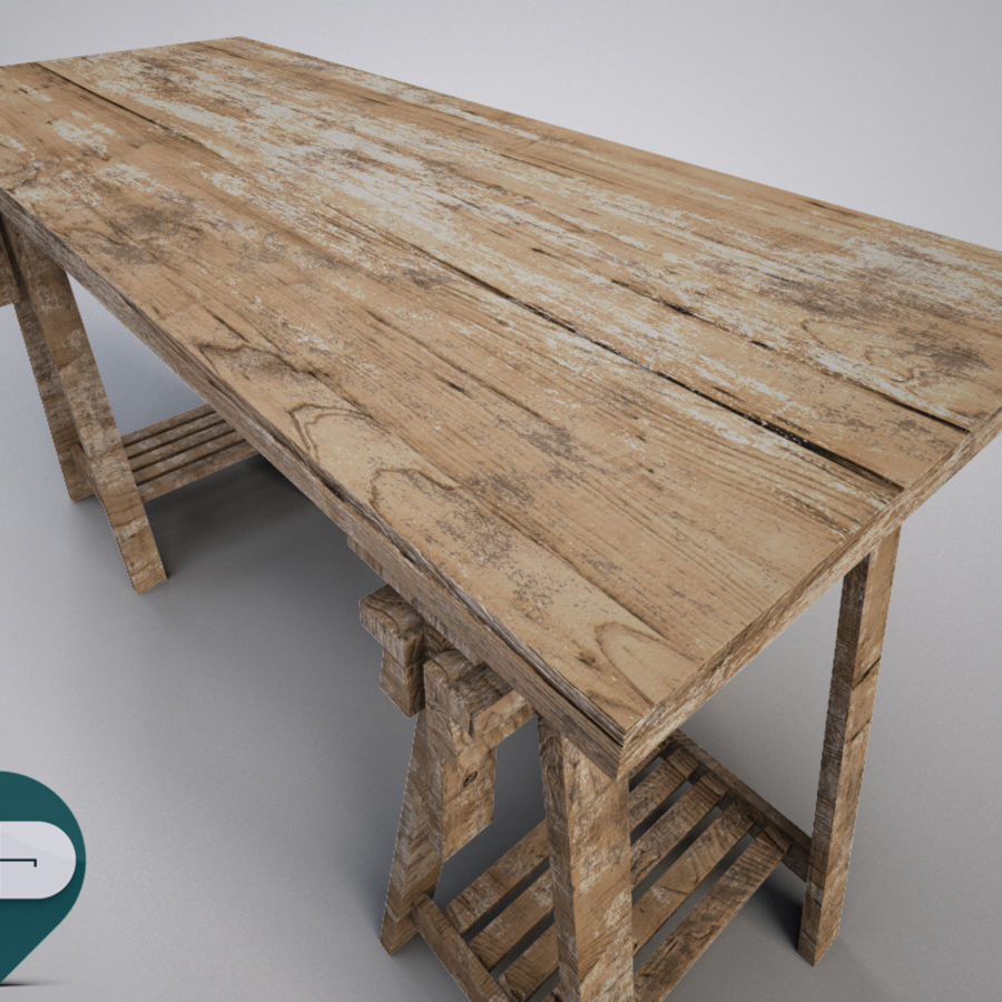 mesa de trabalho royalty-free 3d model - Preview no. 4