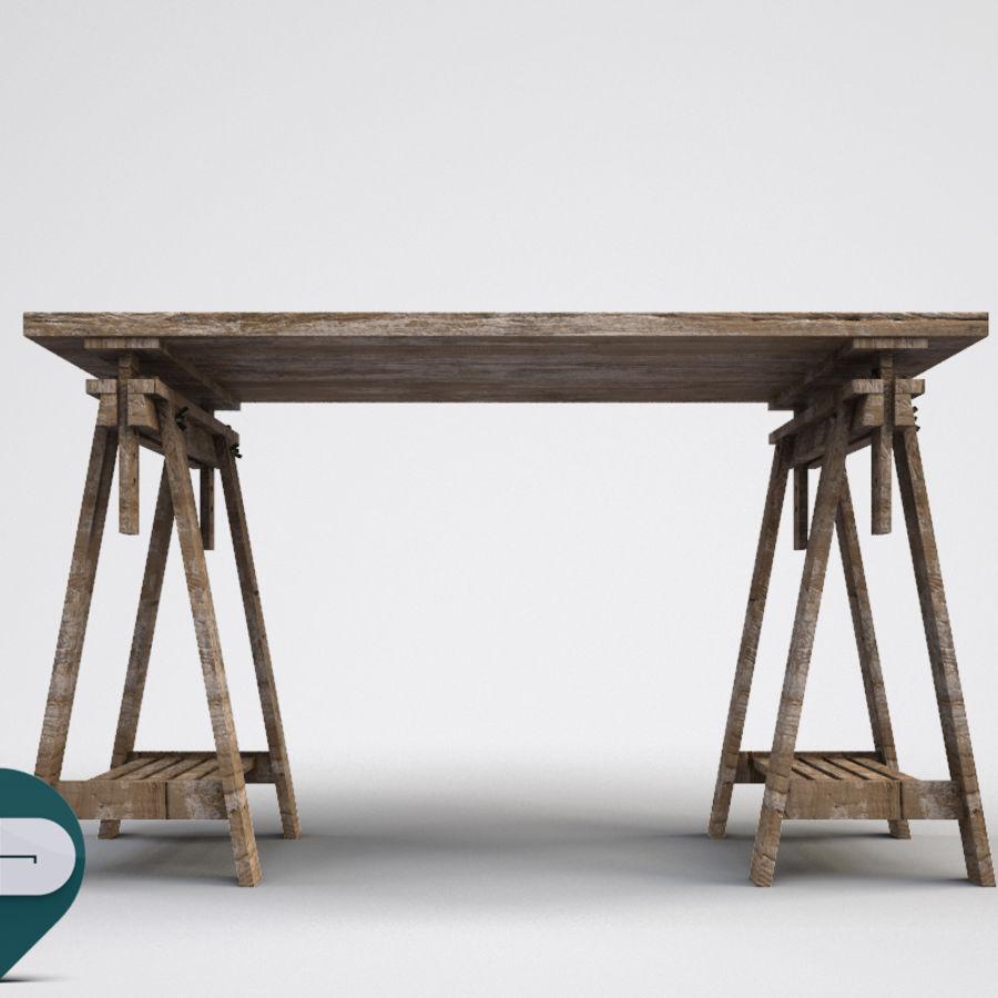 mesa de trabalho royalty-free 3d model - Preview no. 3