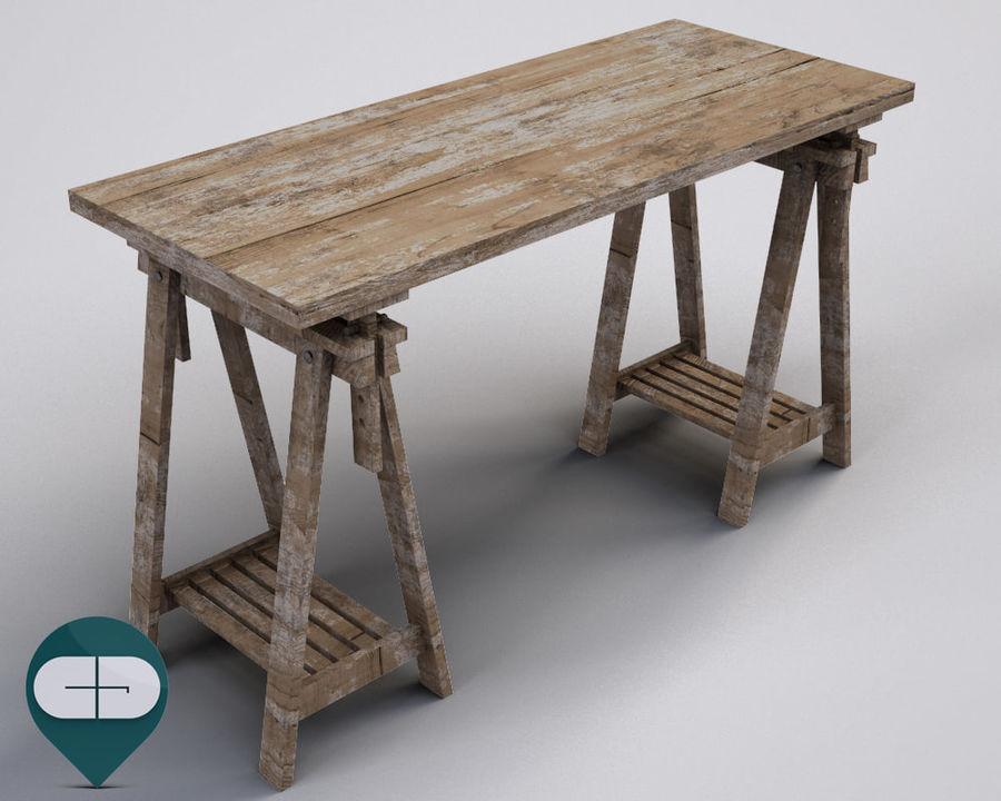 mesa de trabalho royalty-free 3d model - Preview no. 2