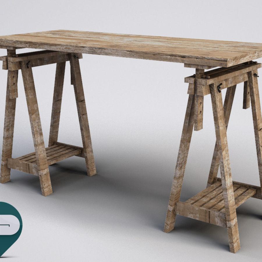 mesa de trabalho royalty-free 3d model - Preview no. 1