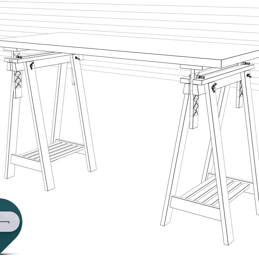 mesa de trabalho royalty-free 3d model - Preview no. 7