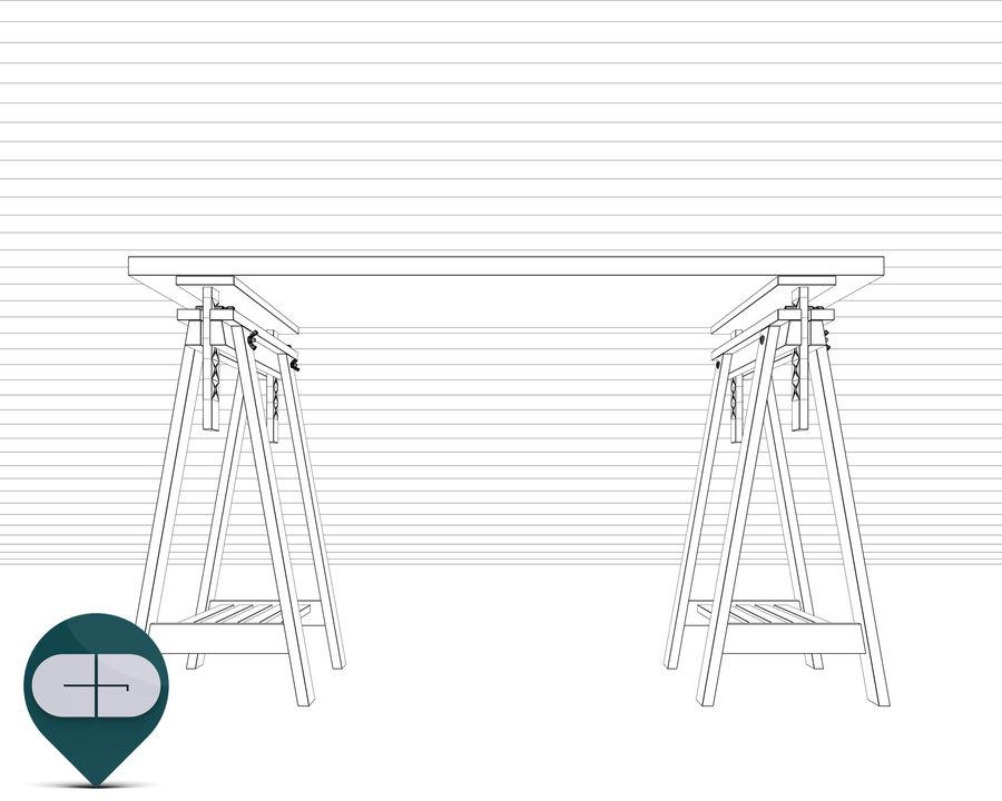 mesa de trabalho royalty-free 3d model - Preview no. 9