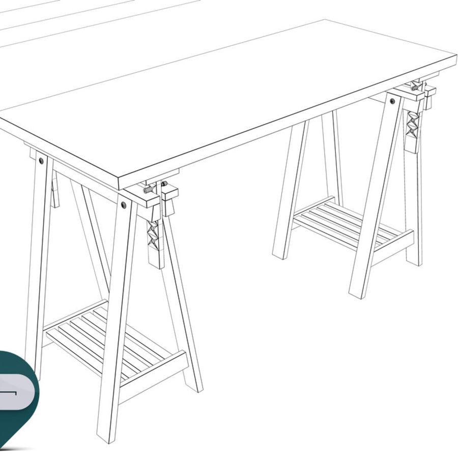mesa de trabalho royalty-free 3d model - Preview no. 8