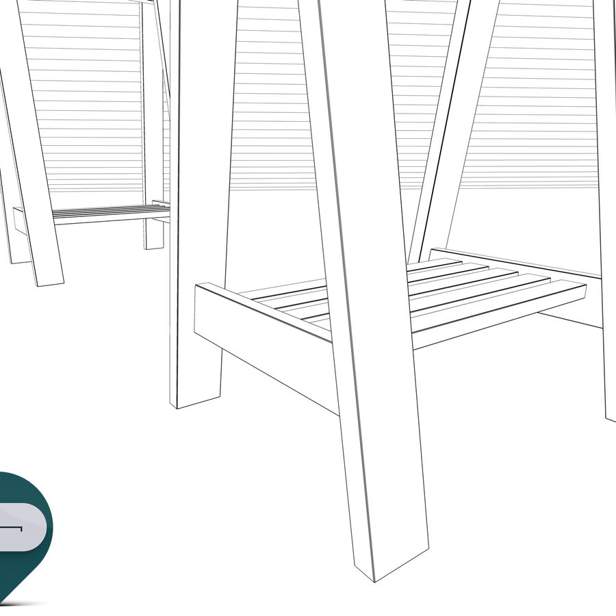 mesa de trabalho royalty-free 3d model - Preview no. 11