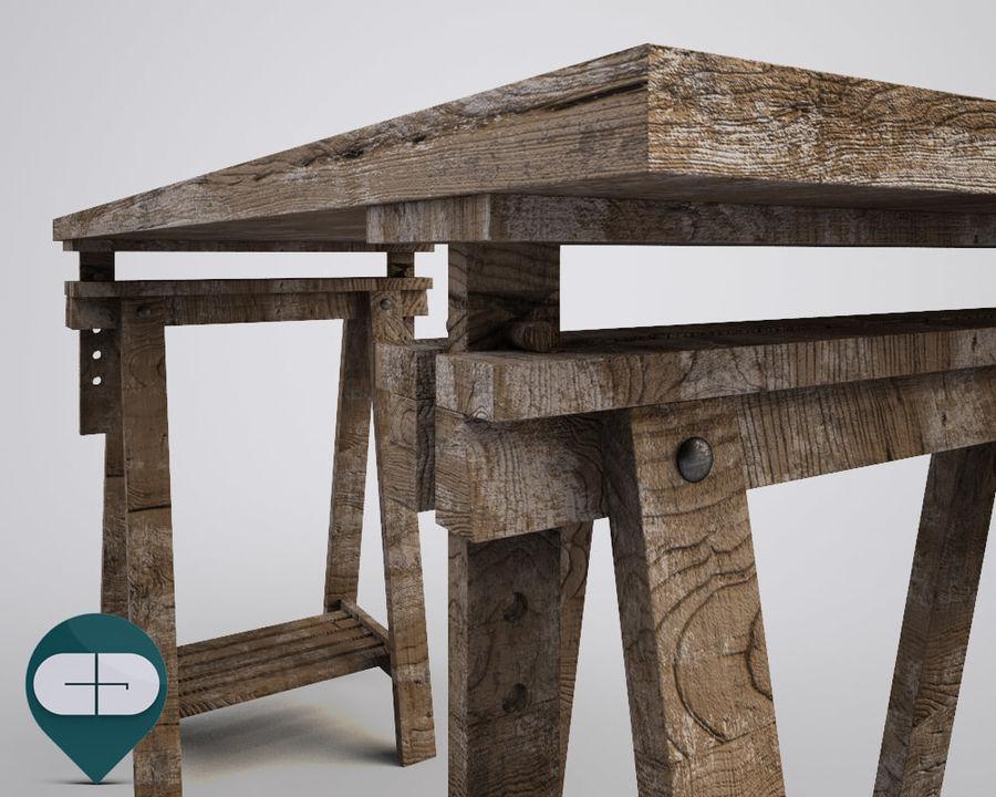 mesa de trabalho royalty-free 3d model - Preview no. 6