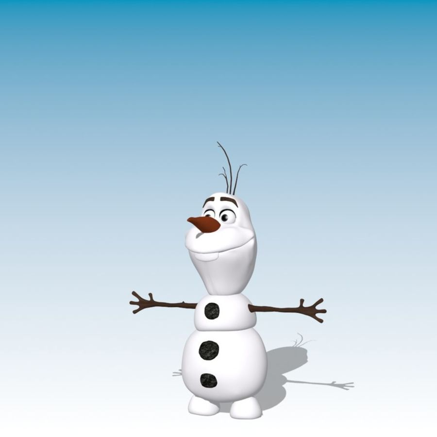 CARTOON SNOWMAN RIGGED royalty-free 3d model - Preview no. 11