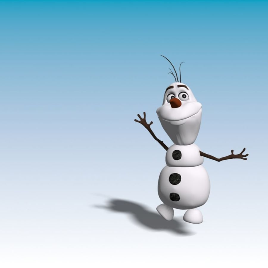 CARTOON SNOWMAN RIGGED royalty-free 3d model - Preview no. 8