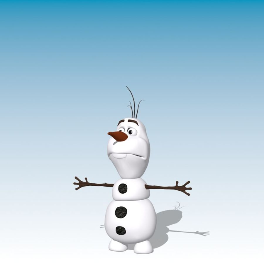 CARTOON SNOWMAN RIGGED royalty-free 3d model - Preview no. 10