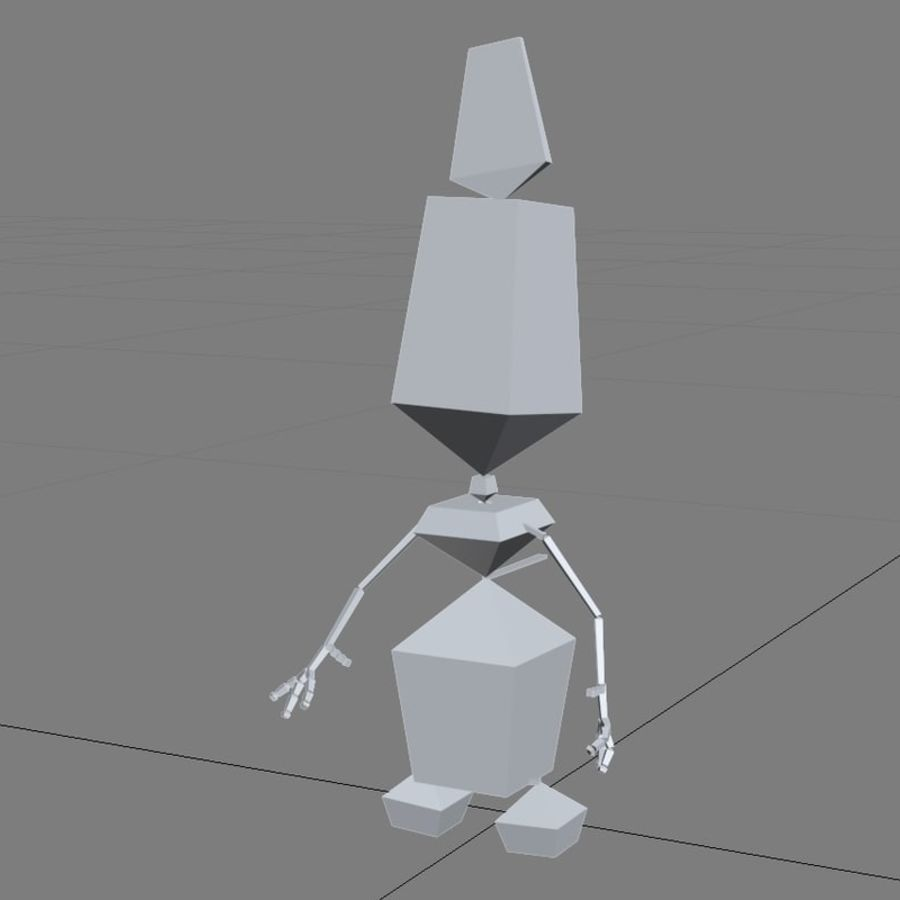 CARTOON SNOWMAN RIGGED royalty-free 3d model - Preview no. 9