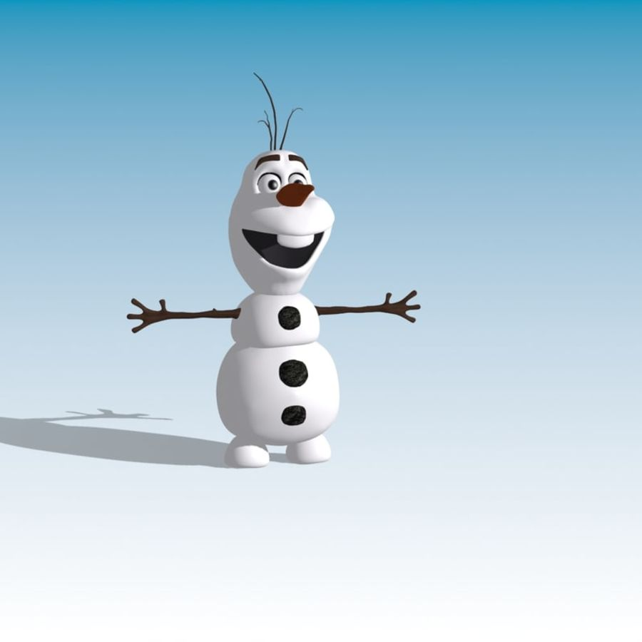 CARTOON SNOWMAN RIGGED royalty-free 3d model - Preview no. 3