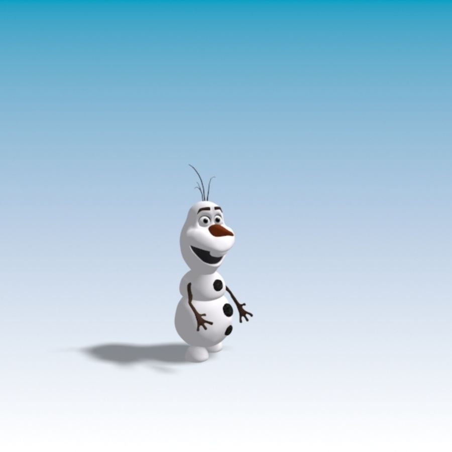 CARTOON SNOWMAN RIGGED royalty-free 3d model - Preview no. 14