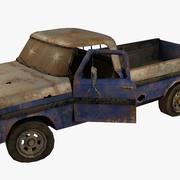 Rusty pick-up lowpoly 3d model