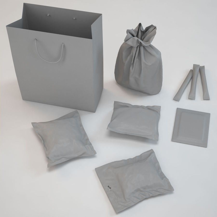 Food Packaging royalty-free 3d model - Preview no. 21