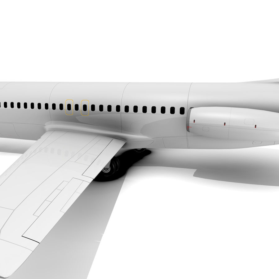 McDonnell Douglas DC-9 royalty-free 3d model - Preview no. 7