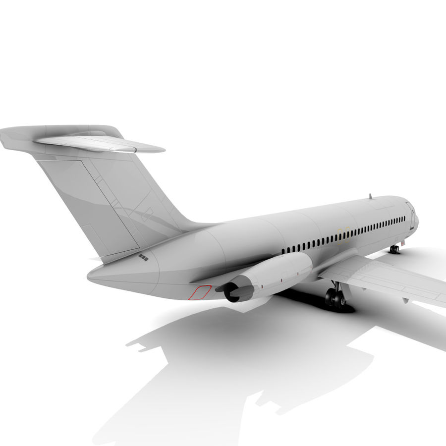 McDonnell Douglas DC-9 royalty-free 3d model - Preview no. 3