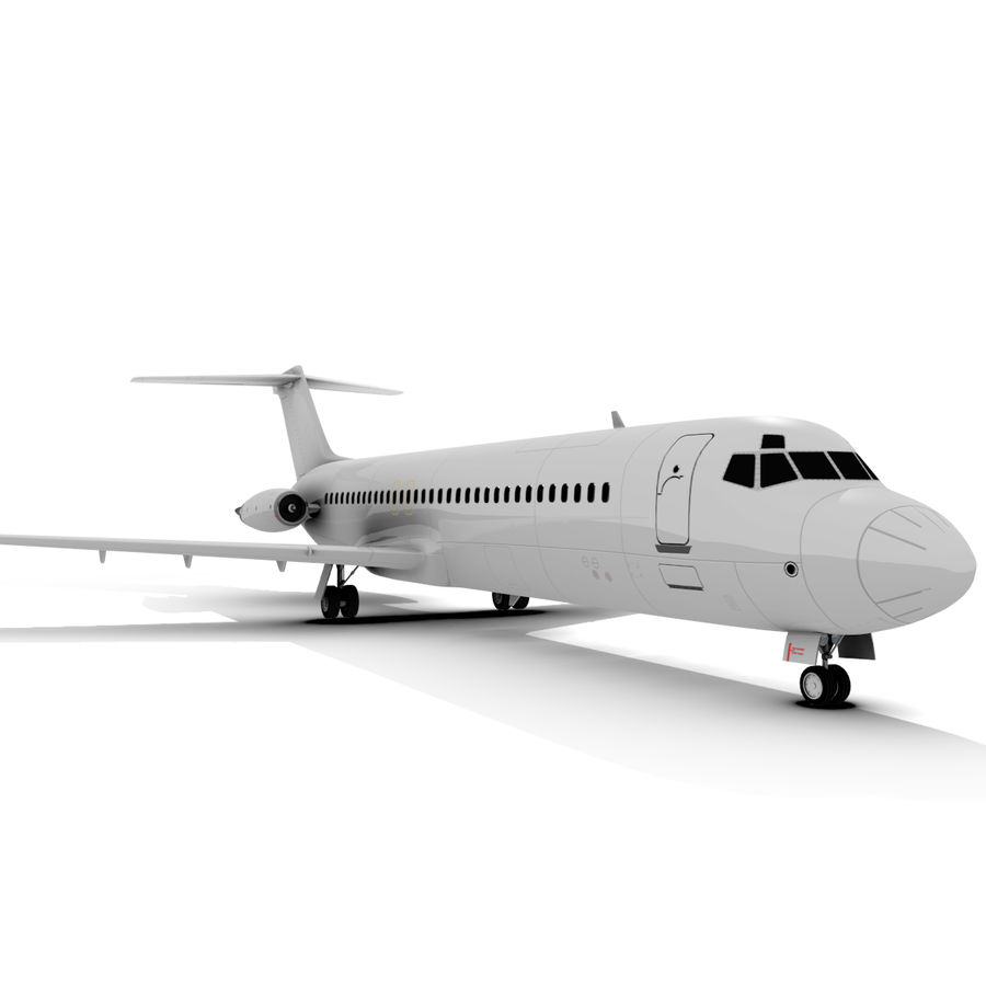 McDonnell Douglas DC-9 royalty-free 3d model - Preview no. 4