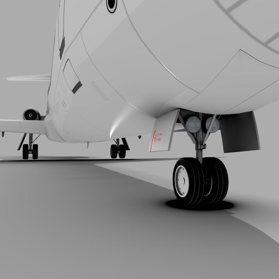 McDonnell Douglas DC-9 royalty-free 3d model - Preview no. 8