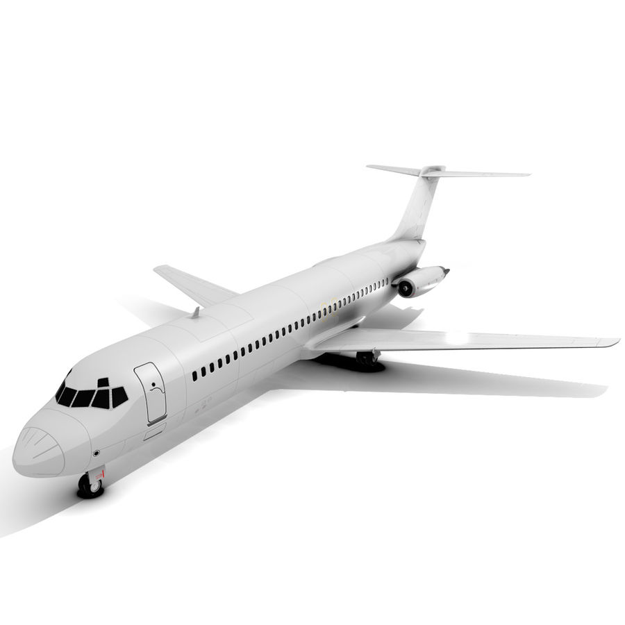 McDonnell Douglas DC-9 royalty-free 3d model - Preview no. 5
