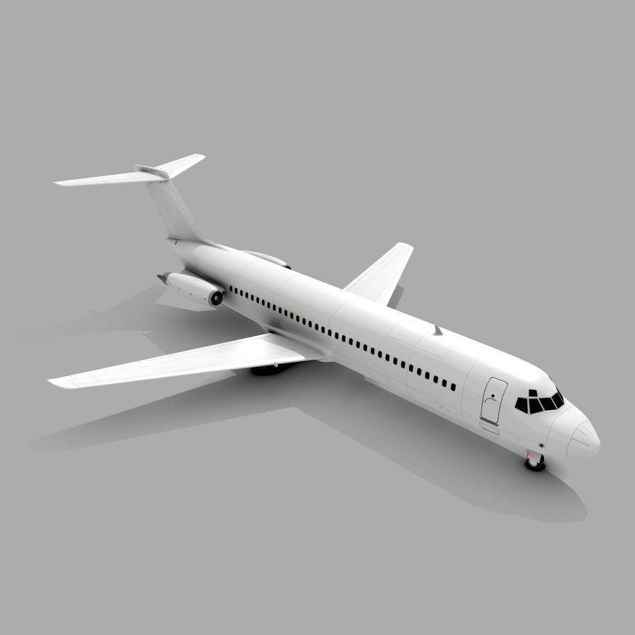 McDonnell Douglas DC-9 royalty-free 3d model - Preview no. 1