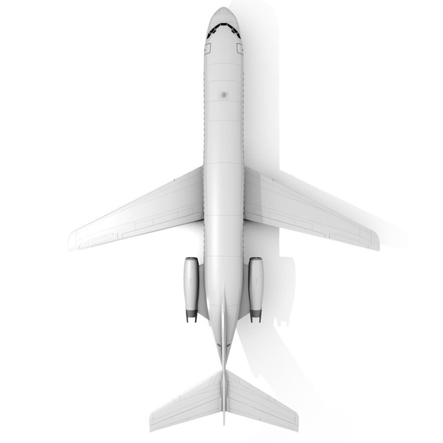 McDonnell Douglas DC-9 royalty-free 3d model - Preview no. 2