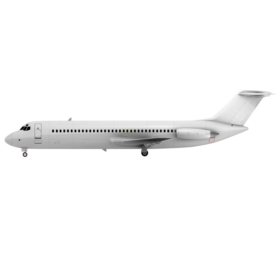 McDonnell Douglas DC-9 royalty-free 3d model - Preview no. 11