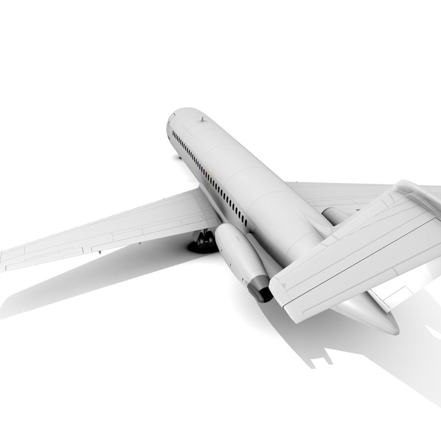 McDonnell Douglas DC-9 royalty-free 3d model - Preview no. 9