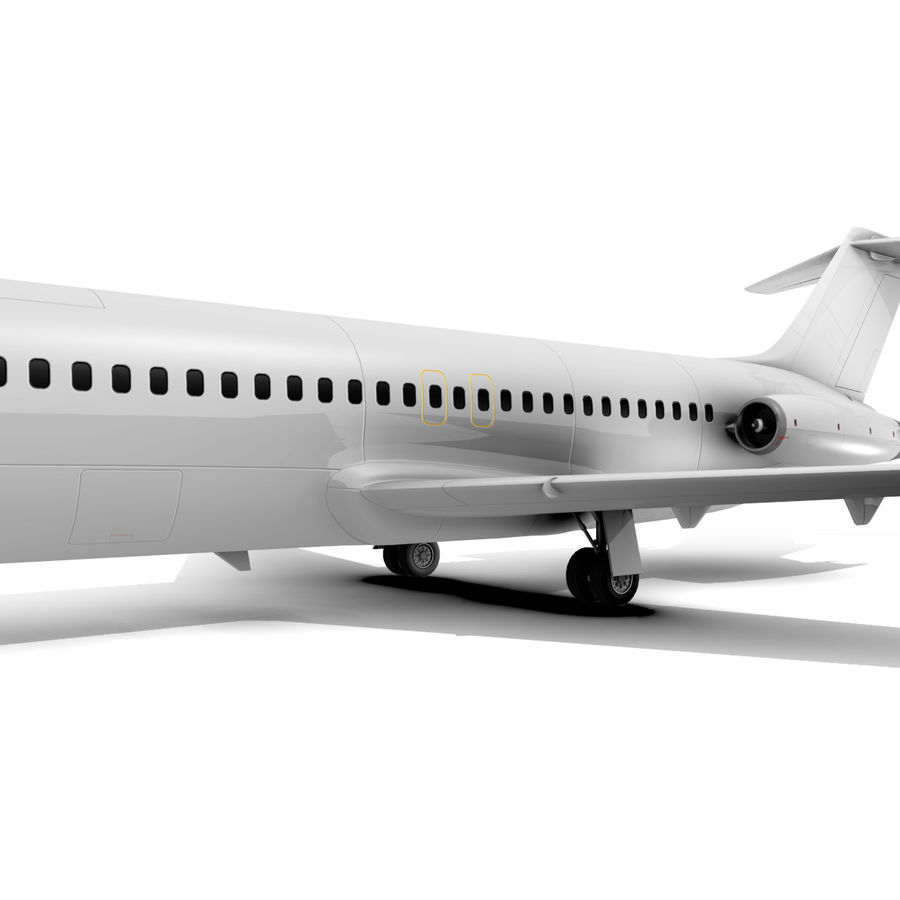 McDonnell Douglas DC-9 royalty-free 3d model - Preview no. 6
