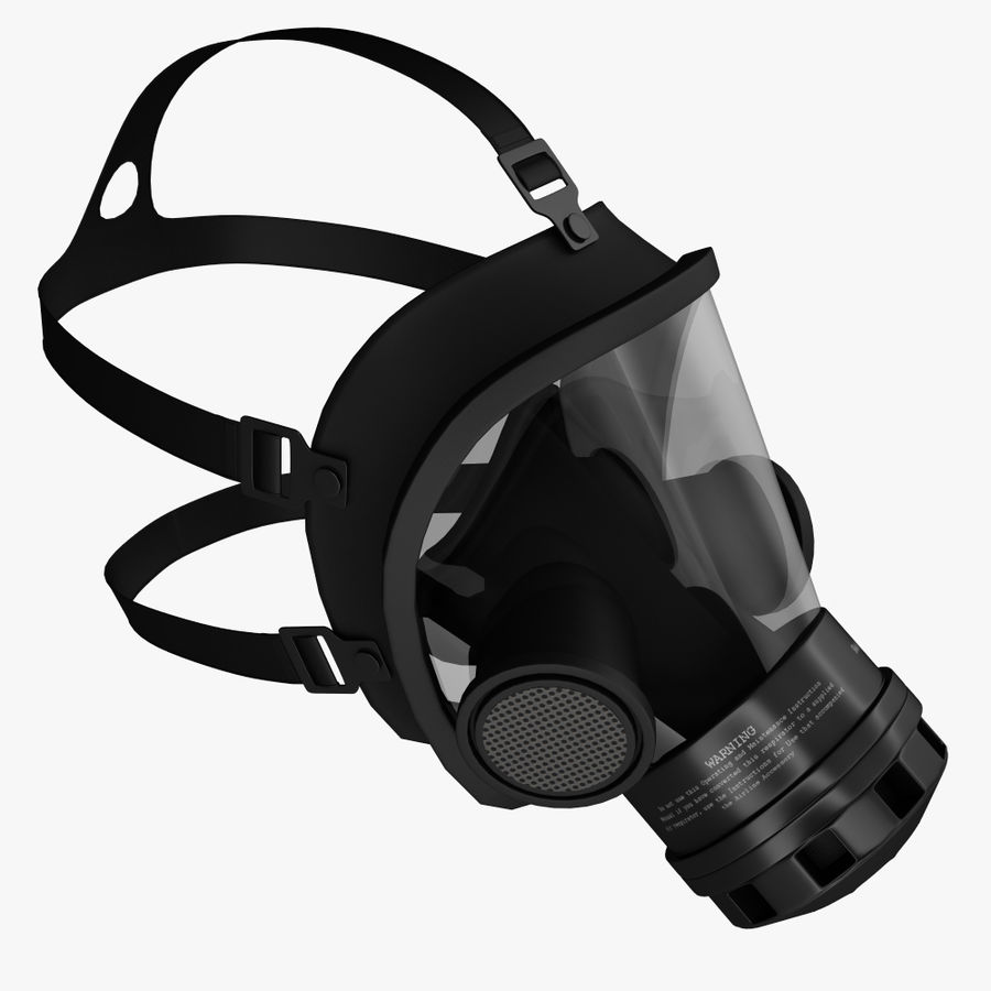 gasmasker royalty-free 3d model - Preview no. 2