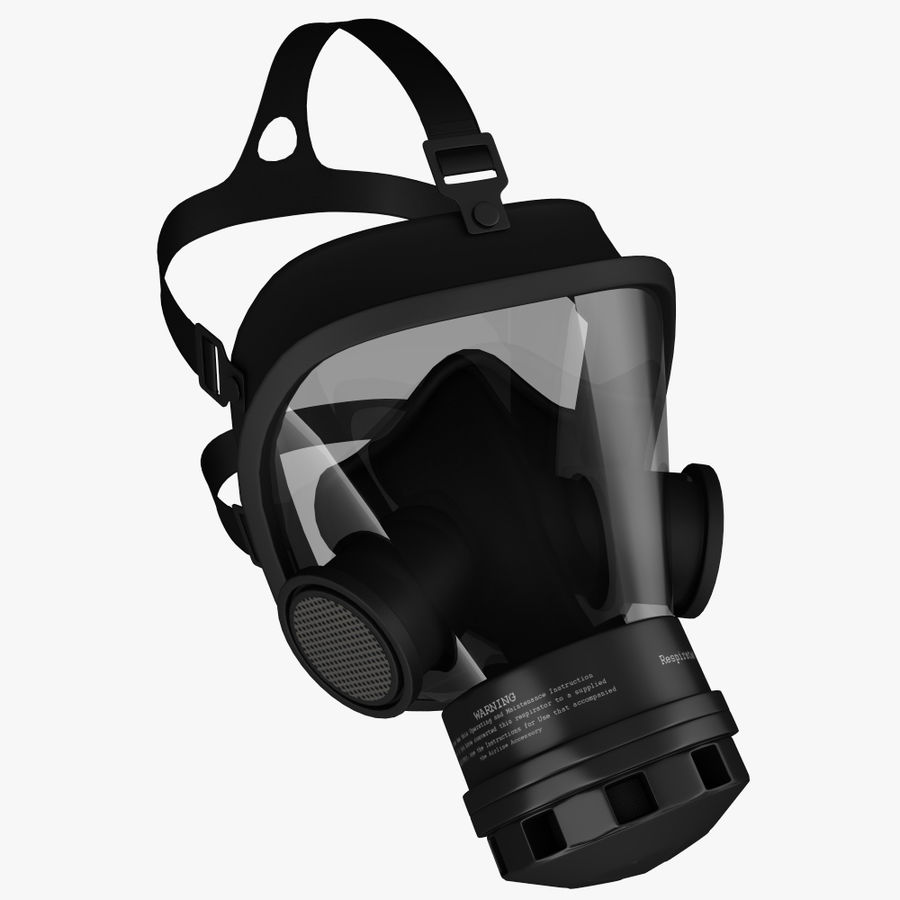 gasmasker royalty-free 3d model - Preview no. 3