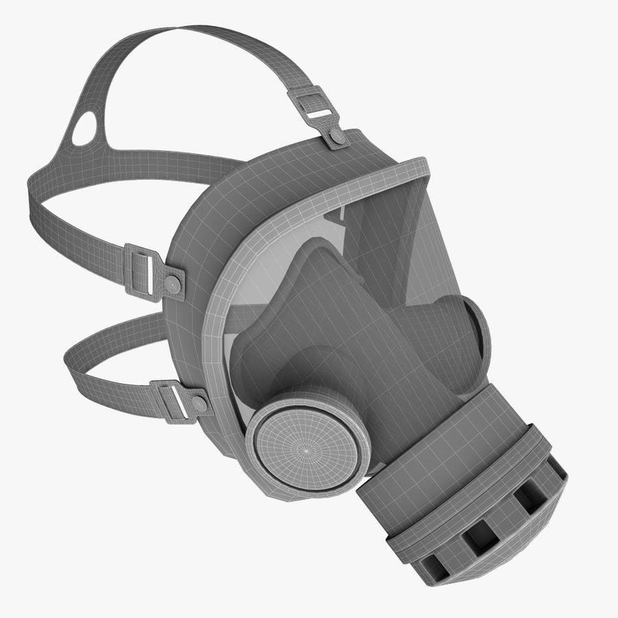 gasmasker royalty-free 3d model - Preview no. 9