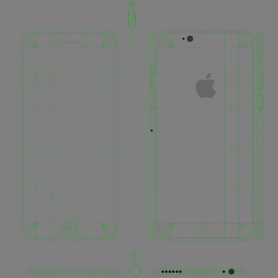 Apple iPhone 6 royalty-free 3d model - Preview no. 14