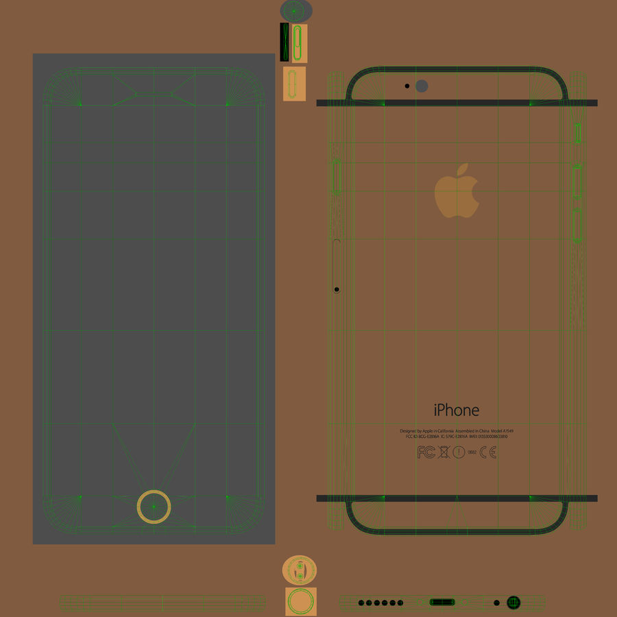 Apple iPhone 6 royalty-free 3d model - Preview no. 20