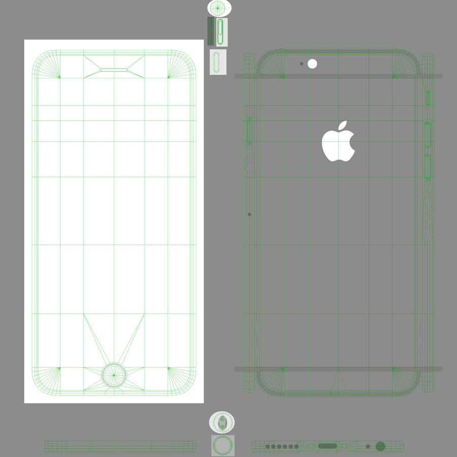 Apple iPhone 6 royalty-free 3d model - Preview no. 19