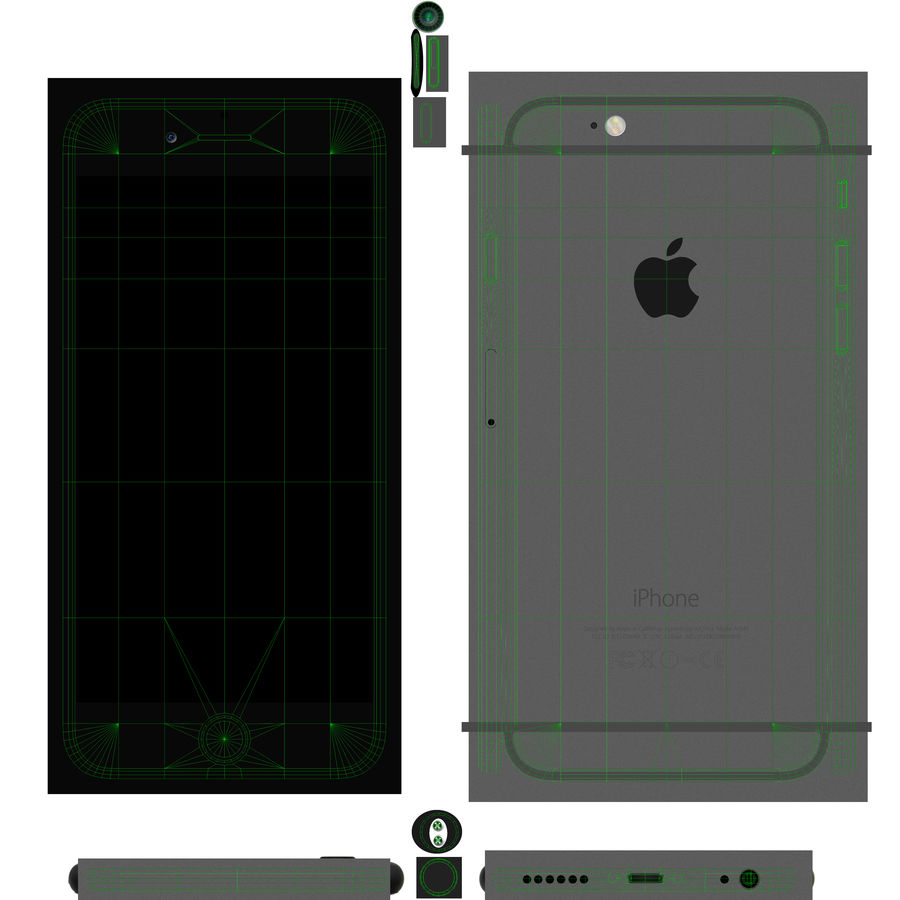 Apple iPhone 6 royalty-free 3d model - Preview no. 16