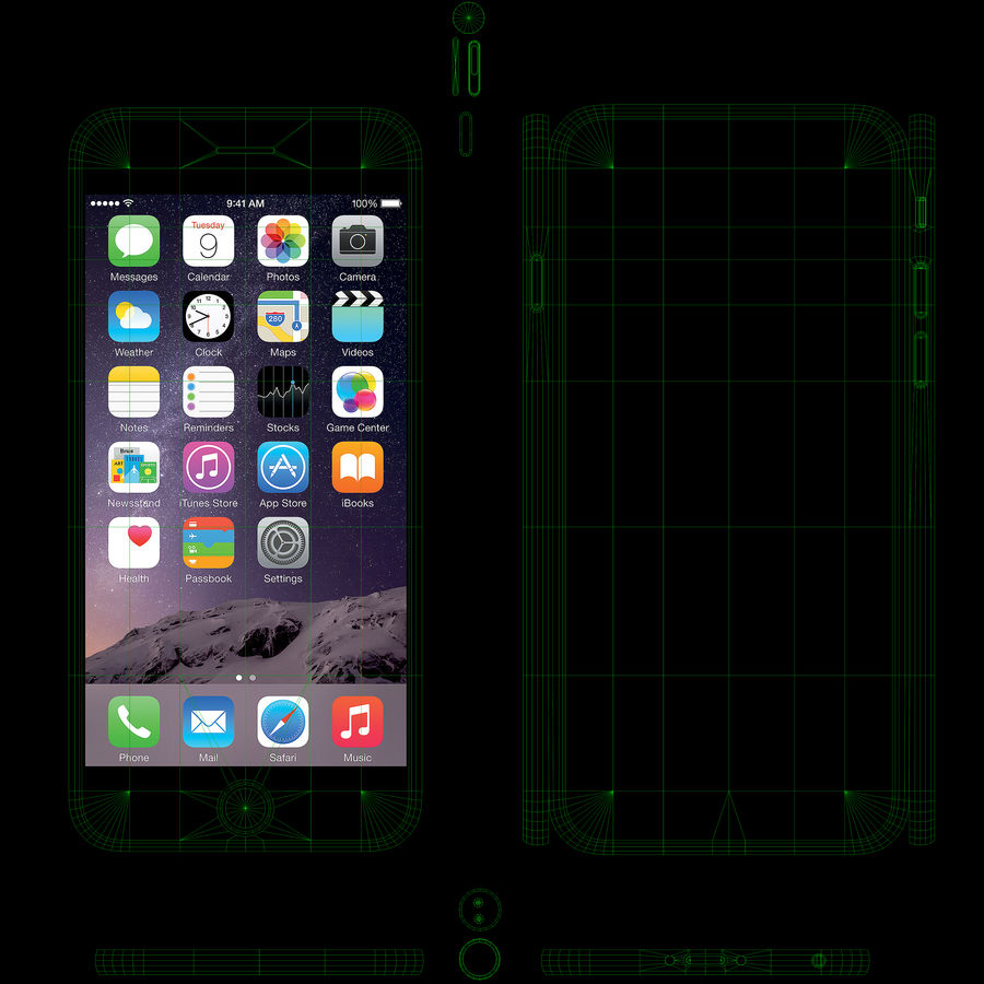 Apple iPhone 6 royalty-free 3d model - Preview no. 18