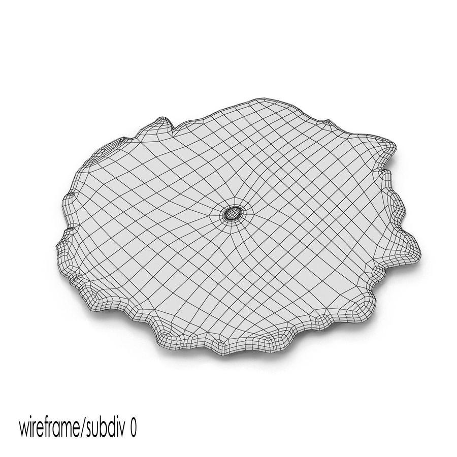 黄色Discosoma蘑菇珊瑚 royalty-free 3d model - Preview no. 8