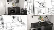 Кухня Маленькая 2015 3d model