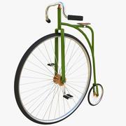 Bicicleta de penique modelo 3d