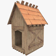 Doghouse Low Poly 3d model