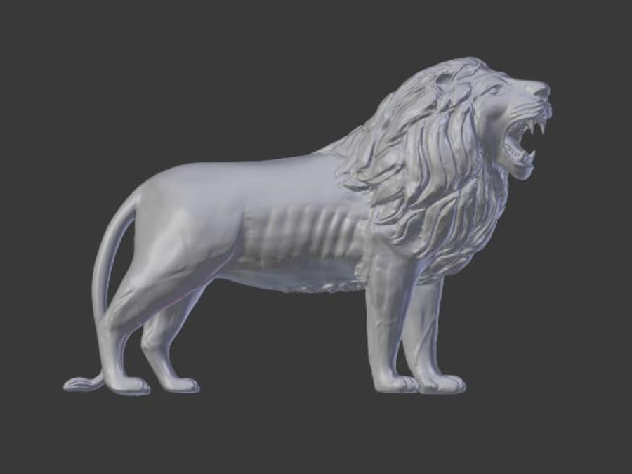 Lion Statue royalty-free 3d model - Preview no. 5