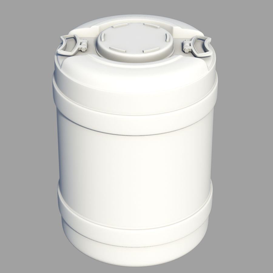 water container medium royalty-free 3d model - Preview no. 3