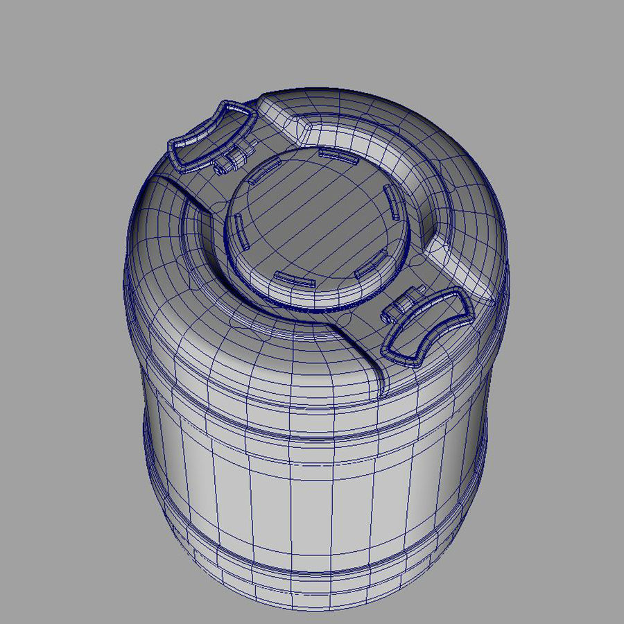 water container medium royalty-free 3d model - Preview no. 5