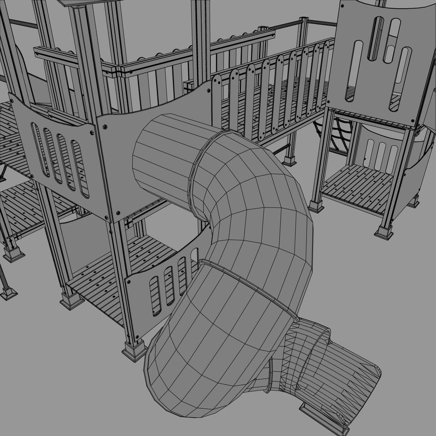 Playground royalty-free 3d model - Preview no. 10