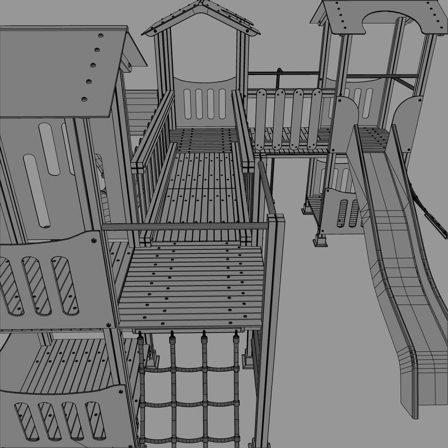 Playground royalty-free 3d model - Preview no. 11