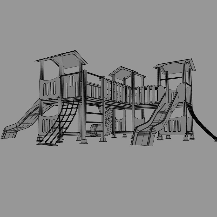 Playground royalty-free 3d model - Preview no. 13