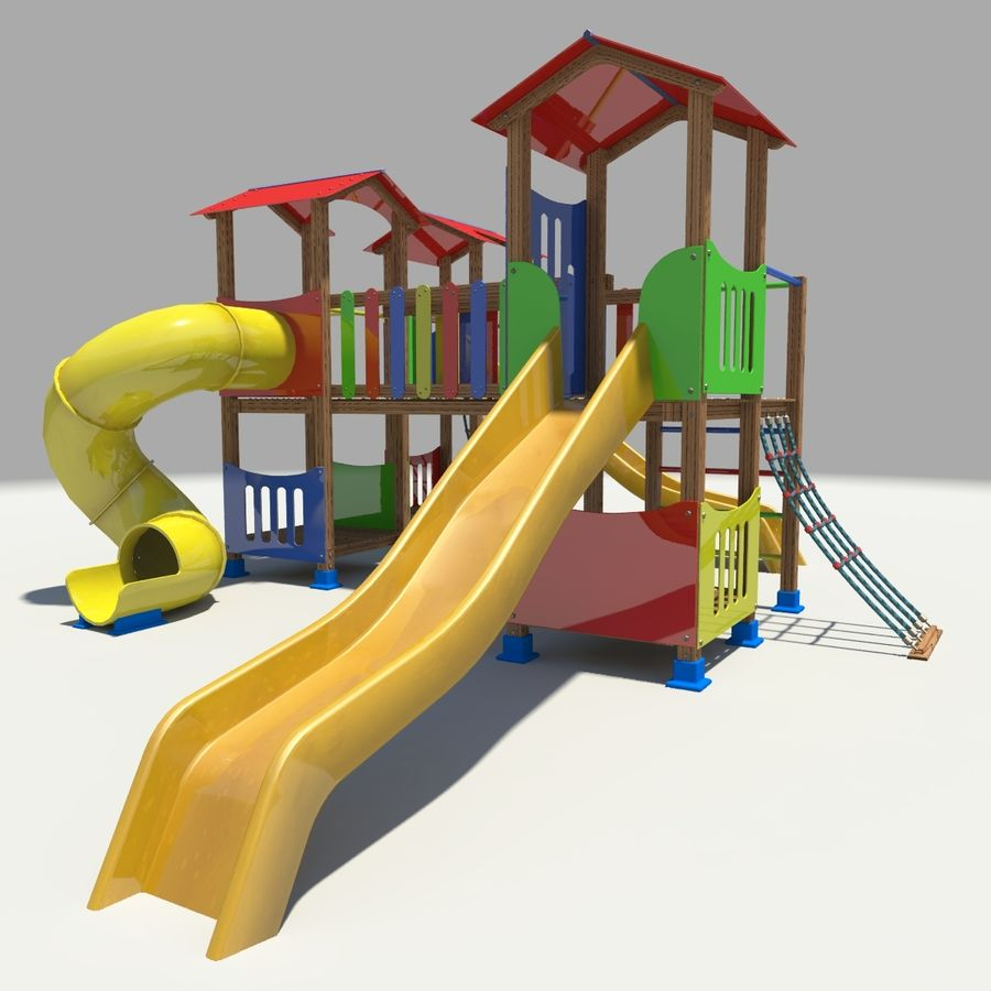 Playground royalty-free 3d model - Preview no. 3