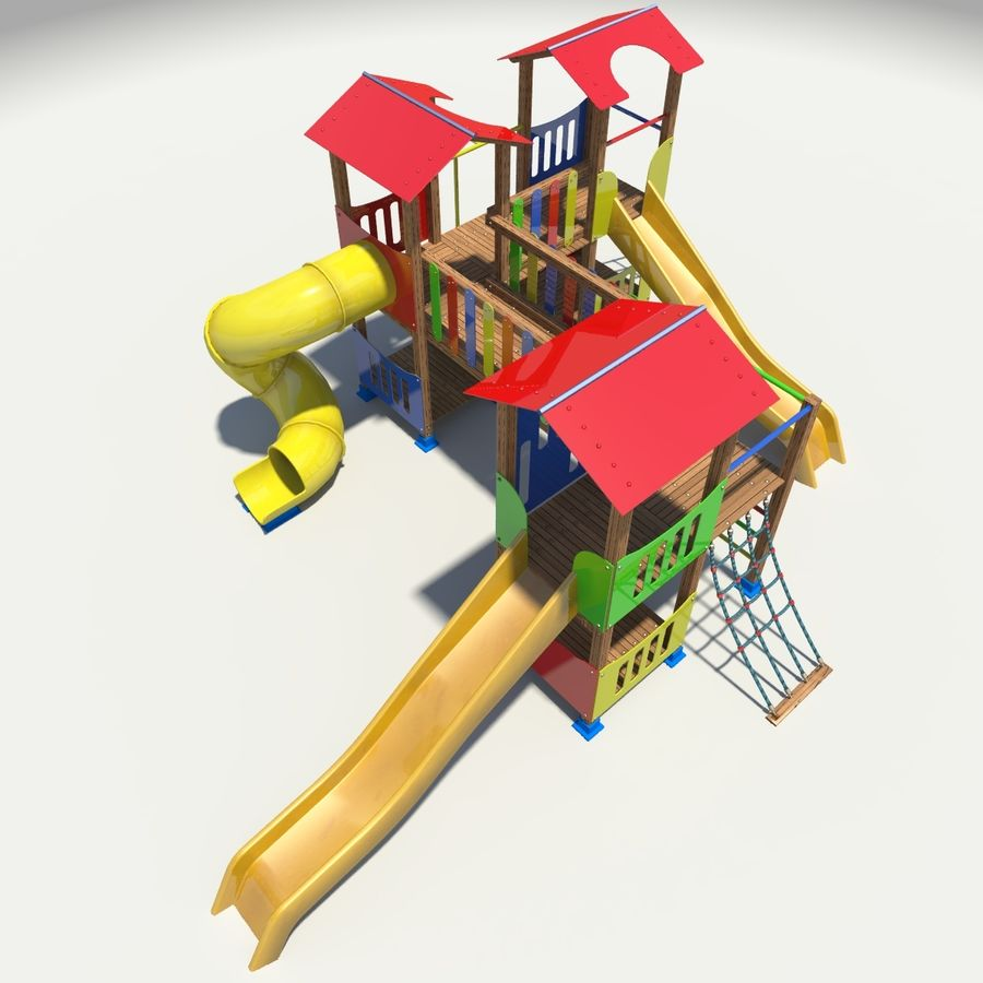 Playground royalty-free 3d model - Preview no. 8